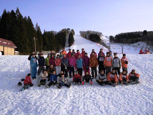 ①スキー体験集合写真